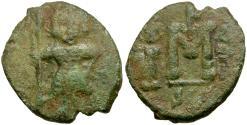 Ancient Coins - *Sear 1209* Byzantine Empire. Constantine IV Pogonatus Æ Follis / Syracuse Mint