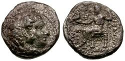 Ancient Coins - Kings of Macedon. Alexander III The Great Posthumous Issue AR Hemidrachm / Zeus Enthroned