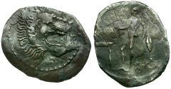 Ancient Coins - Sicily. Leontinoi AR Litra / Apollo