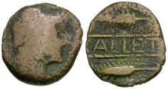 Ancient Coins - Spain. Iberia. Callet Æ AS / Hercules and Wheat Stalks
