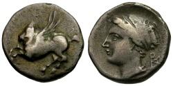 Ancient Coins - Corinth. Uncertain Colony AR Drachm / PA Monogram