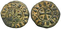 World Coins - Crusades. Principality of Antioch. Bohemond IV (1201-1233) Billon Pougeoise