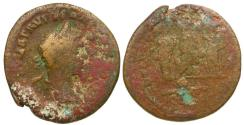 Ancient Coins - Severus Alexander. Seleucis and Pieria. Antioch Æ 8 Assaria / Tyche Crowned by Emperor