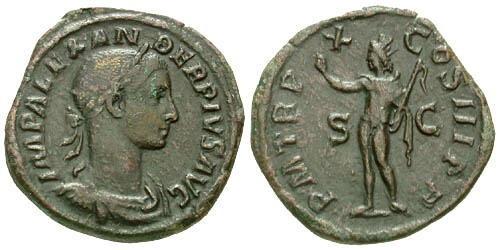 Ancient Coins - aVF/aVF Severus Alexander Sestertius / Sol