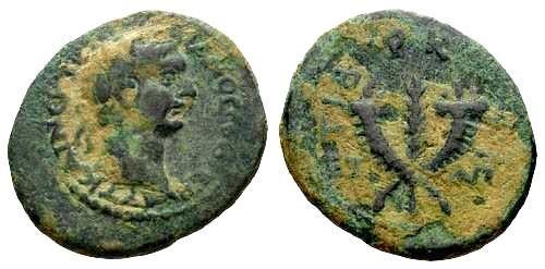 Ancient Coins - VF/VF Trajan Provincial Bronze of Tiberias