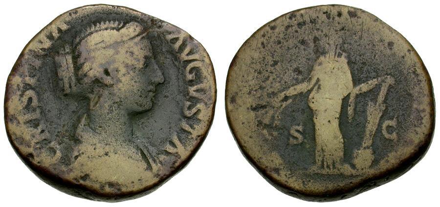 Ancient Coins - Crispina Æ Sestertius / Laetitia