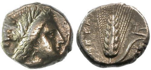 Ancient Coins - aVF/VF  Lucania Metapontium AR Nomos