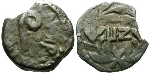 Ancient Coins - VF/VF Pontius Pilate Prutah / Lituus and LIZ