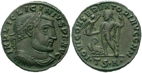 Ancient Coins - VF/VF Licinius Follis / Jupiter  R3