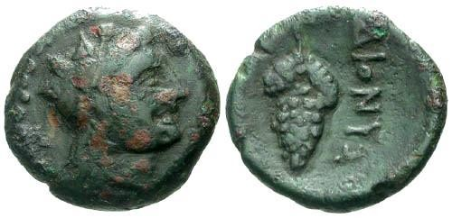Ancient Coins - gF/VF Thrace Dionysopolis AE16 / Grapes