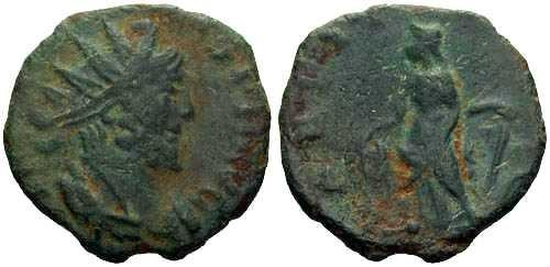 Ancient Coins - VF Barborous Copy of Roman Bronze found in England