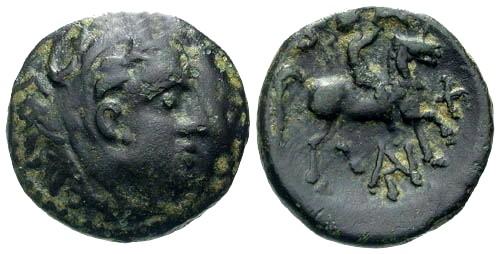 Ancient Coins - aVF/aVF Antigonus Gonatas Ruler of Macedon AE18 / Horseman