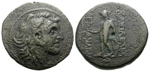 Ancient Coins - aVF/aVF Kings of Syria Alexander I Balas / Alexander the Great / Apollo