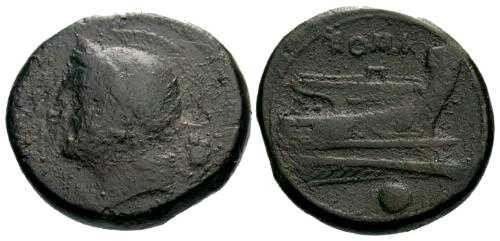 Ancient Coins - F+/aVF Republic Anonymous Uncia 217 BC
