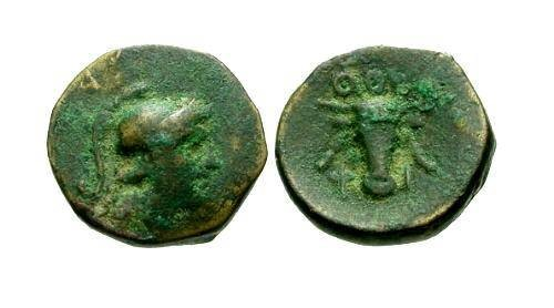 Ancient Coins - aVF/aVF Lucania Thourioi AE11 / Bucranium