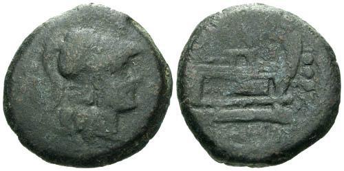 Ancient Coins - gF/gF Roman Republic AE Triens