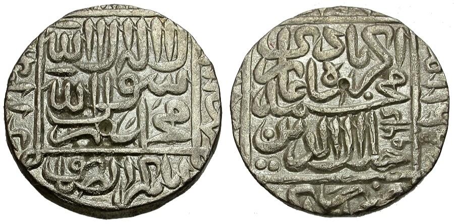 Ancient Coins - India. Mughal Empire. Akbar I. Agra mint AR Rupee