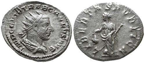 Ancient Coins - VF/aVF Trebonianus Gallus Antoninianus / Libertas