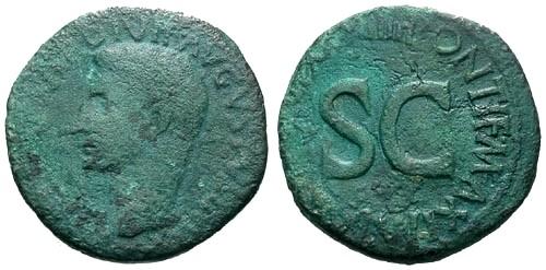 Ancient Coins - gF/gF Augustus AE Moneyer AS / S C