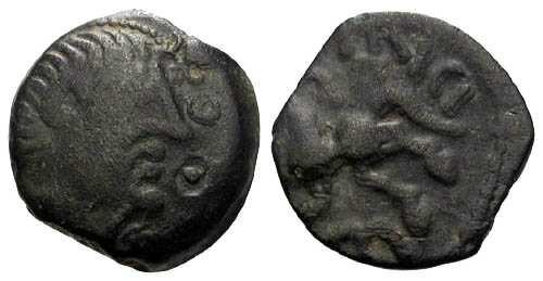 Ancient Coins - VF/VF Ambiani Tribe Bronze / Costal type