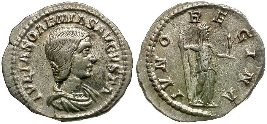Julia Soaemias, Denarius, Rome, , Silver, RIC:243   Roman