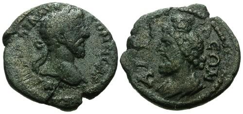 Ancient Coins - aVF/aVF Commodus Pamphylia Attalia AE21 / Serapis