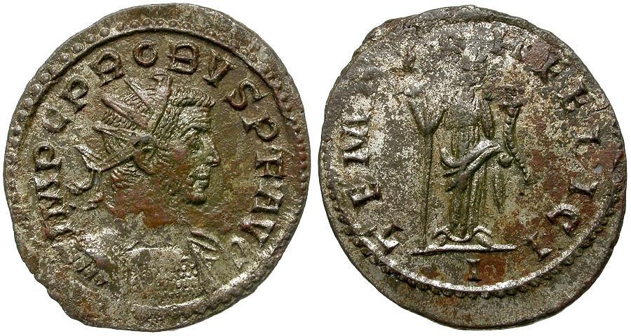 Ancient Coins - Probus (AD 276-282) Silvered Æ Antoninianus / Felicitas