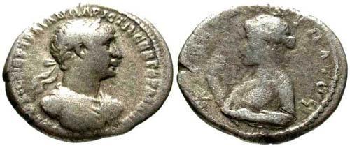 Ancient Coins - F/F Trajan AR Drachm Caesareia / Artemis