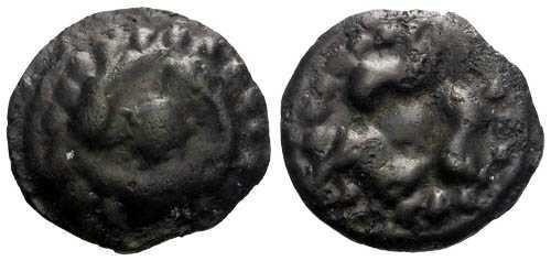 Ancient Coins - EF/EF Lingones Tribe Potin / Designs