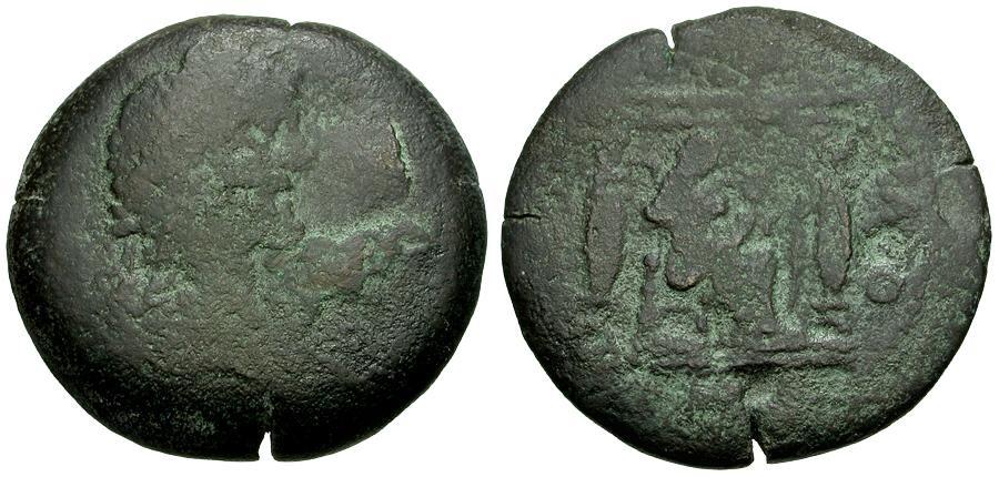 Ancient Coins - Antoninus Pius.  Egypt. Alexandria Æ Drachm / Isis Holding Infant Harpokrates
