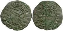 Ancient Coins - Spain. Castile and Leon. Enrique II Billon Cruzado