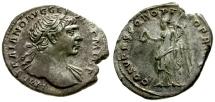 Ancient Coins - VF/VF Trajan AR Denarius / Victory