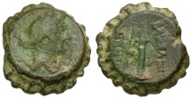 Ancient Coins - gF/gF Seleukid Kings of Syria, Demetrios I Soter Æ21 Soter / Bow and Quiver