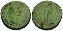 Ancient Coins - aVF/gF Antoninus Pius Æ Sestertius / Aequitas