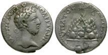 Ancient Coins - Commodus. Cappadocia. Caesarea AR Didrachm / Mt. Argaeus