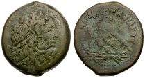 Ancient Coins - Ptolemaic Kings of Egypt. Ptolemy III Euergetes Æ35 Hemidrachm