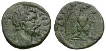 Ancient Coins - Septimius Severus.  Thrace. Hadrianopolis Æ17 / Eagle