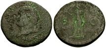 Ancient Coins - Titus Æ Sestertius / Spes