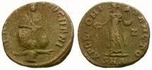 Ancient Coins - Maximinus II Daia. Anonymous Æ 1/4 Follis / Tyche & Apollo