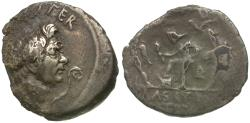 Ancient Coins - Imperatorial. The Pompeians. Sextus Pompey Magnus (43-36 BC) AR fourée? Denarius / Ex Rindge Collection