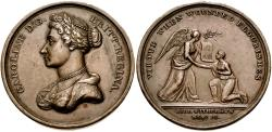 World Coins - Britain. Hanover. Caroline of Brunswick. Queen of Great Britain (1820-1821) Æ Medal