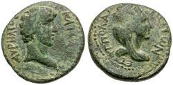 Ancient Coins - Marcus Aurelius as Caesar. Cilicia. Flaviopolis Æ21 / City goddess