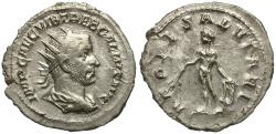 Ancient Coins - Trebonianus Gallus AR Antoninianus / Apollo