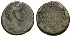 Ancient Coins - Antoninus Pius. Cyrrhestica. Hieropolis Æ21 / Wreath