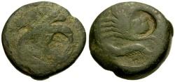 Ancient Coins - F/F Sicily, Akragas Æ Tetras / Eagle / Crab