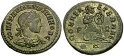 Ancient Coins - Constantine II, as Caesar (AD 316-337) Silvered Æ3 / Roma