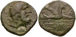 Ancient Coins - Coele. Chalkis ad Libanon. Ptolemaios (Tetrarch) Æ21 / Zeus and Eagle