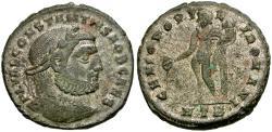 Ancient Coins - Constantius I, as Caesar (AD 293-305) Silvered Æ Follis / Genius