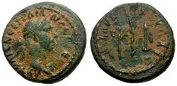 Ancient Coins - Trajan. Cappadocia. Caesarea Æ Quadrans / Laurel & Bow & Quiver
