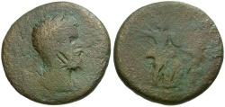 Ancient Coins - Septimius Severus. Cilicia. Seleucia ad Calycadnum Æ30 / Athena Fighting Giant